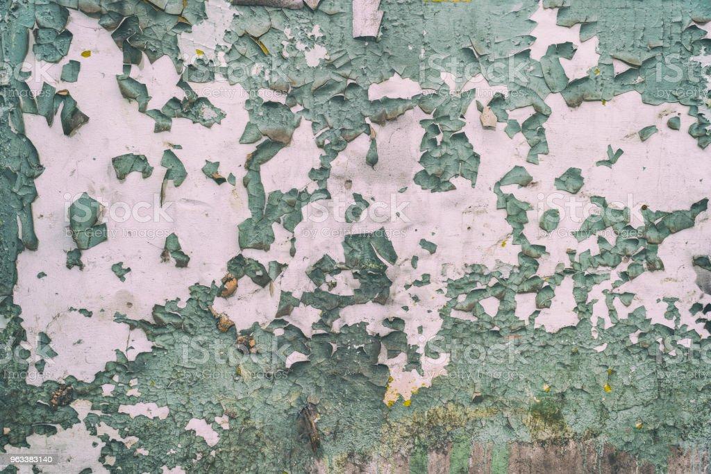 Peeling paint on the wall - Zbiór zdjęć royalty-free (Abstrakcja)