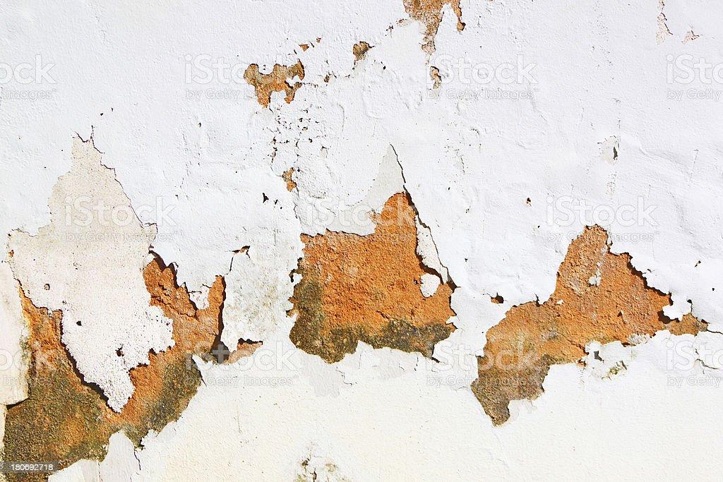 Peeling Paint On Wall royalty-free stock photo