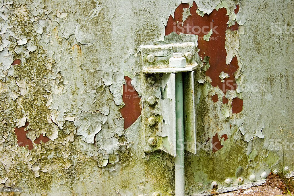 Peeling Paint on Water tank royalty-free stock photo