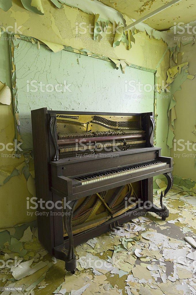 Peeling paint piano royalty-free stock photo