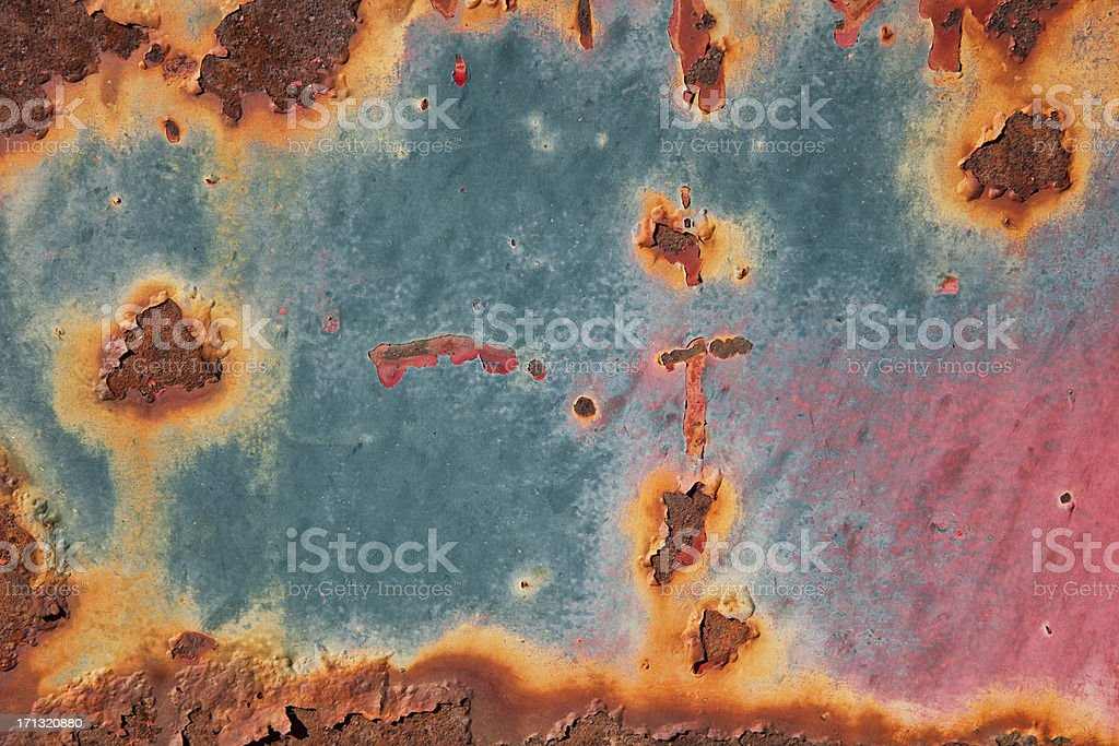 Peeling Paint Texture Background royalty-free stock photo