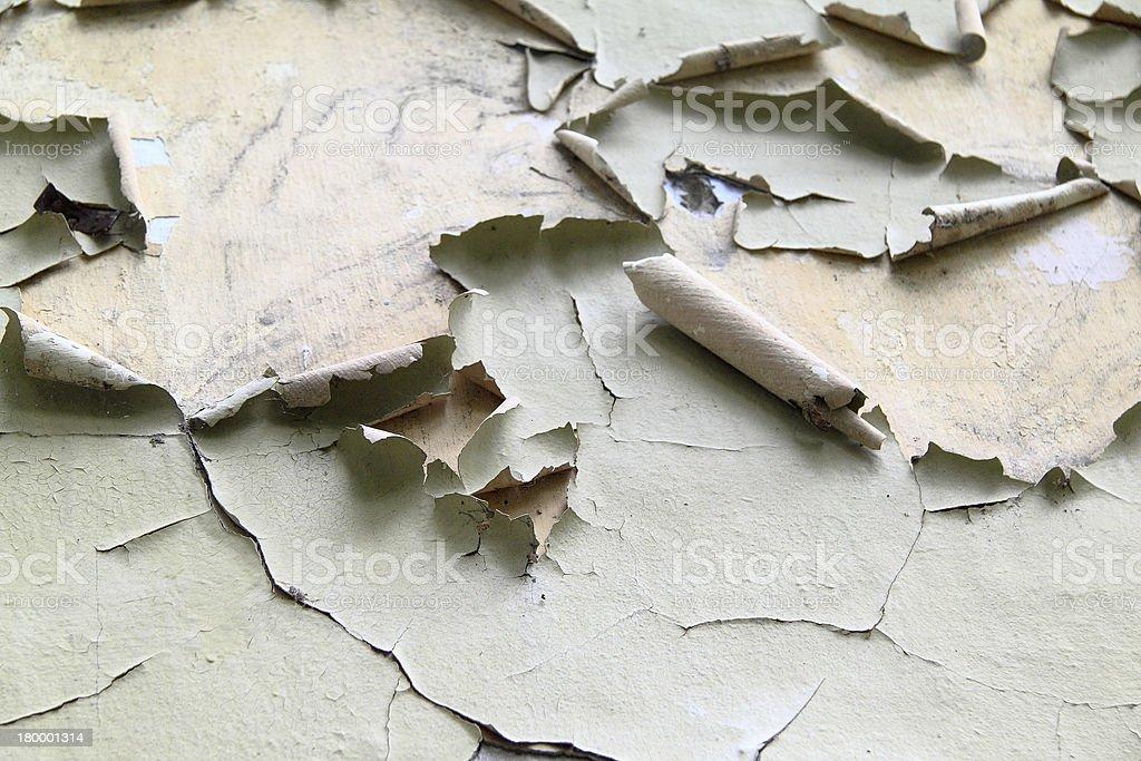 박리 페인트 벽 클로즈업 royalty-free 스톡 사진