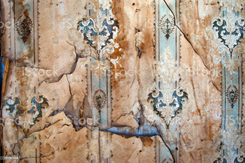peeling wallpaper background royalty-free stock photo