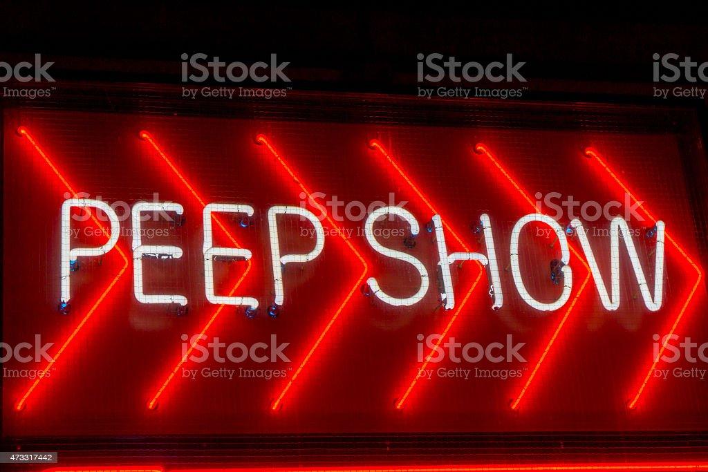 Peep mostrar señal - foto de stock