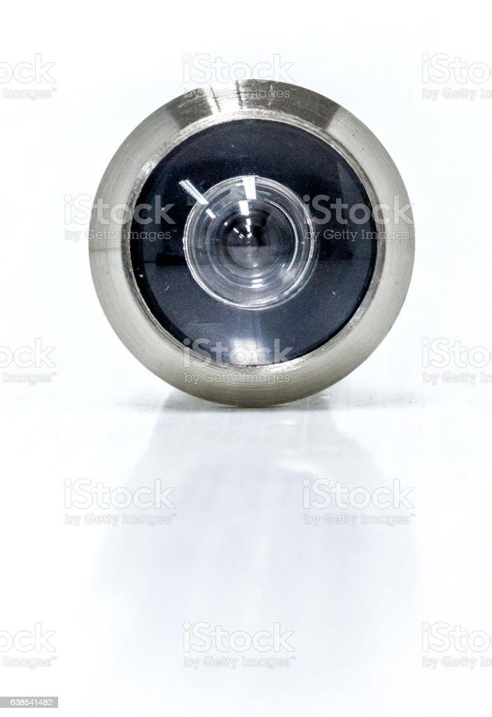 Peephole steel for door stock photo