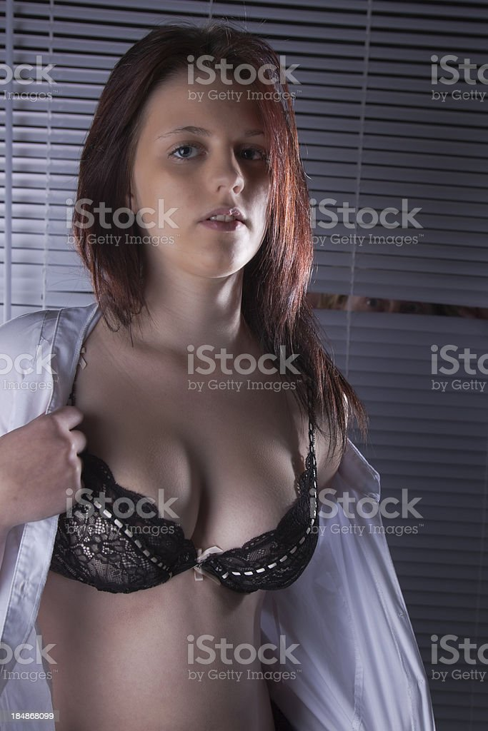 Peeping Tom Watching A Girl Undressing royalty-free stock photo