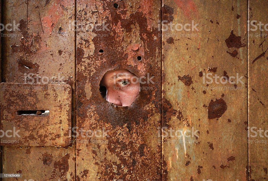 peepinghole royalty-free stock photo