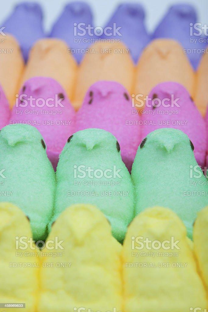 Peeps Rainbow stock photo