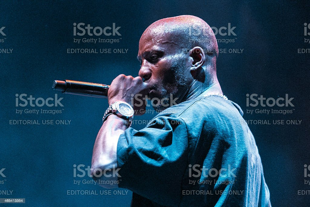DMX peforming in Moscow, Russia stock photo