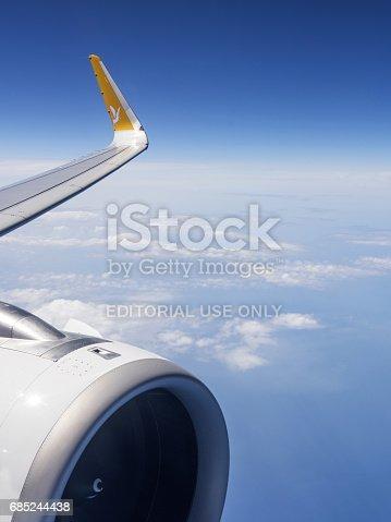 istock Pegasus Airlines in Air 685244438