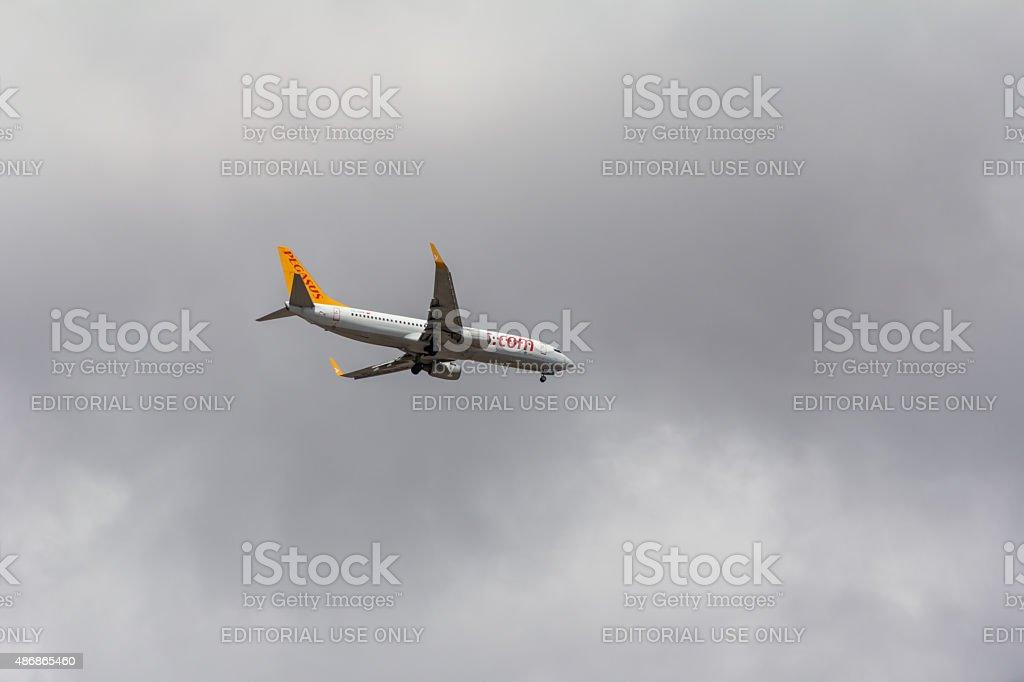 Pegasus Airlines Plane stock photo