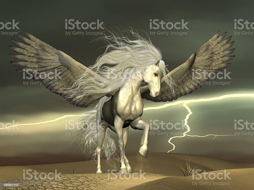 Pegasus and Dark Skies stock photo