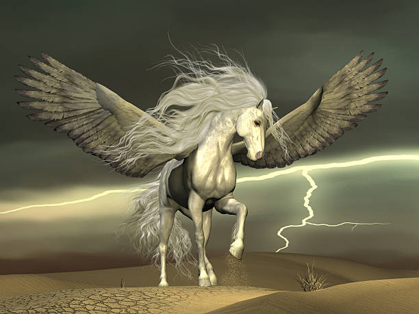 Pegasus and Dark Skies stock photo