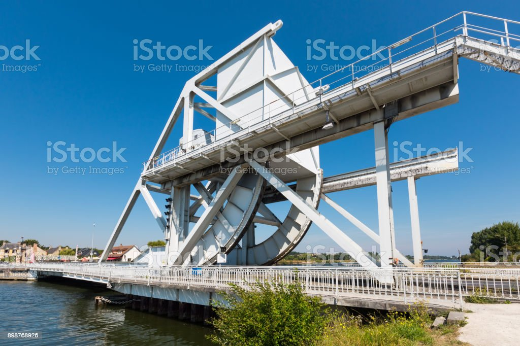 Pegasus bridge in Normandie, France stock photo