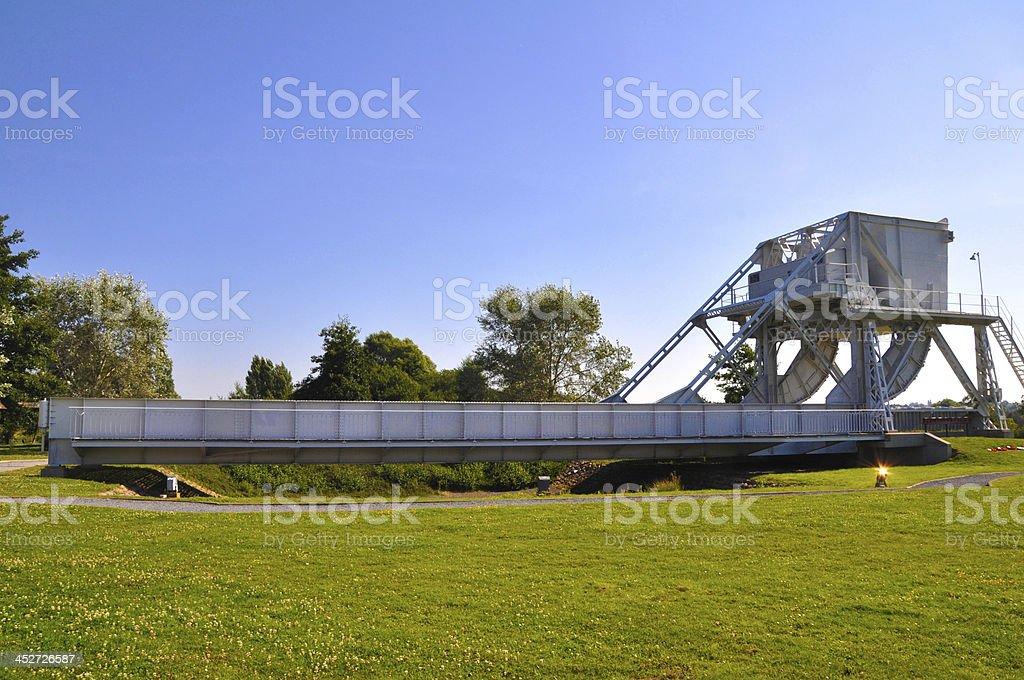 Pegasus Bridge, Normandy, France stock photo