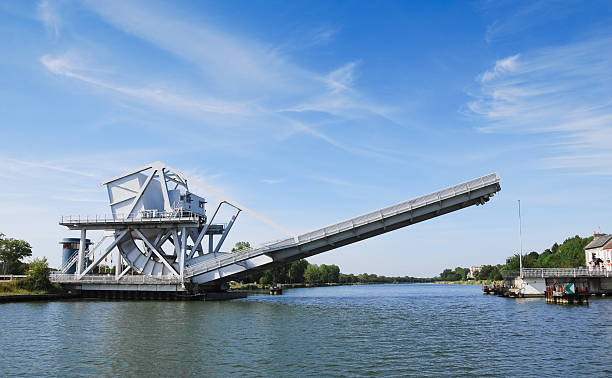 pegasus bridge normandy - caen stock pictures, royalty-free photos & images