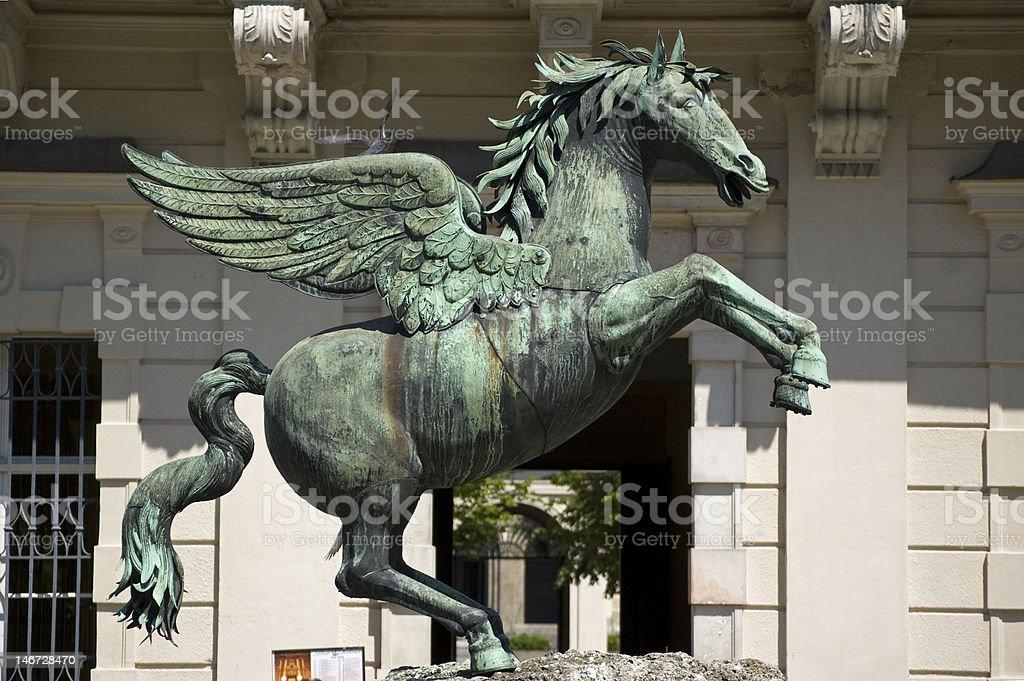 Pegasus in Mirabell Garden stock photo