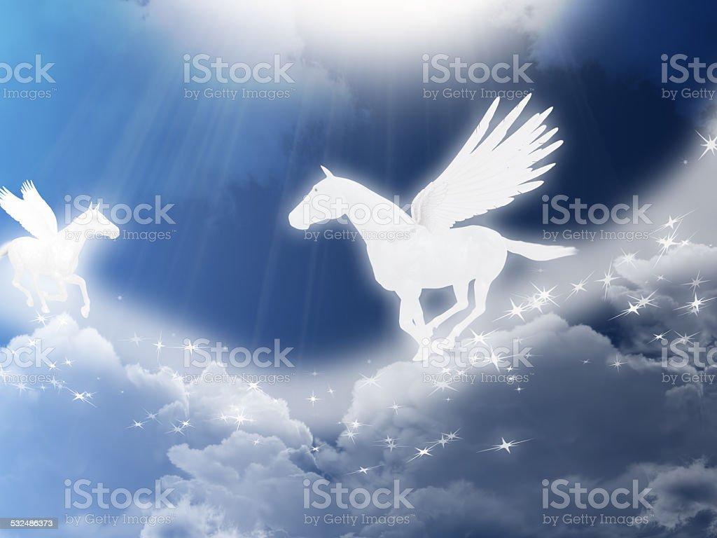 Pegasus in the sky stock photo