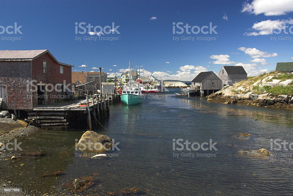 Peggy's Cove Boats royalty-free stock photo