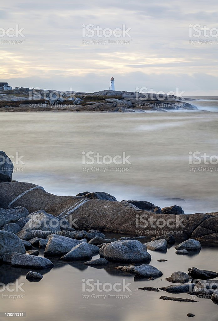 Peggy's Cove Dawn Vertical royalty-free stock photo
