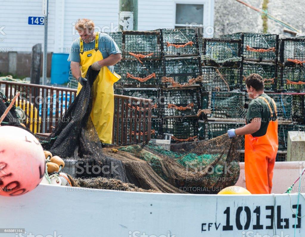Peggy's Cove Fishermen stock photo