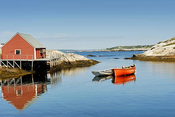 peggy's cove harbour in halifax, nova scotia, kanada - nova scotia halifax stock-fotos und bilder