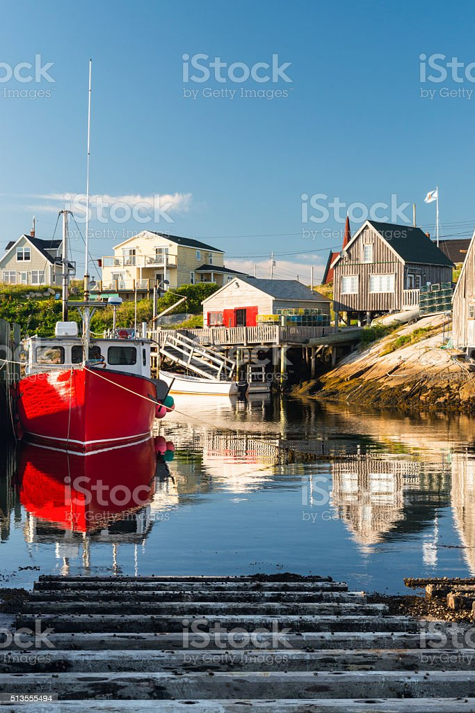 Peggy's Cove Harbour scene, fishing village, Nova Scotia stock photo