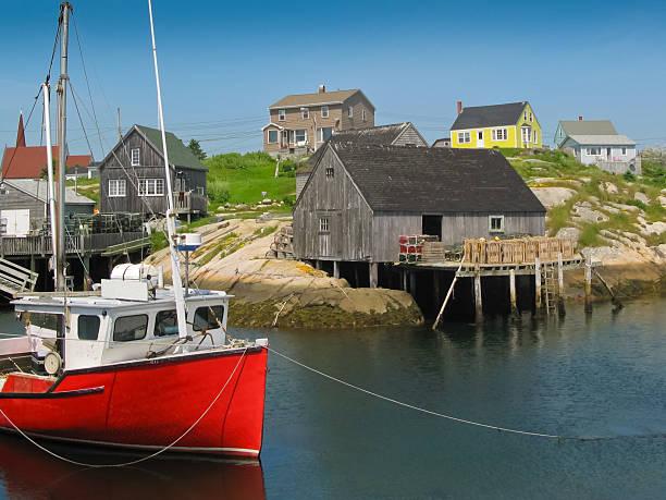 peggy's cove harbour motiv - nova scotia halifax stock-fotos und bilder