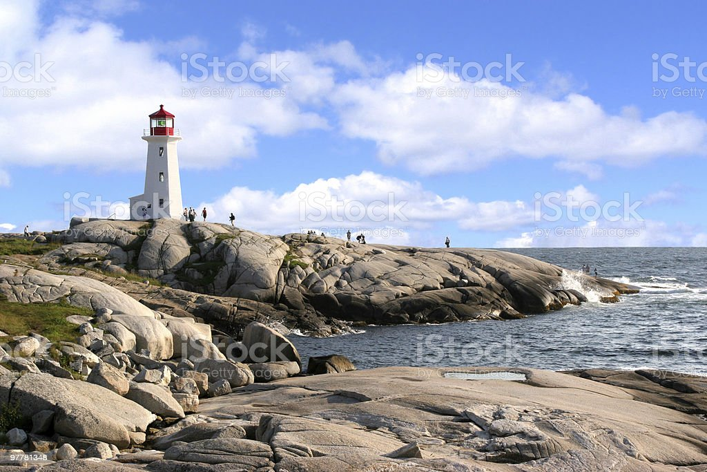 Peggy's Cove Lighthouse beauty, Nova Scotia, Canada stock photo