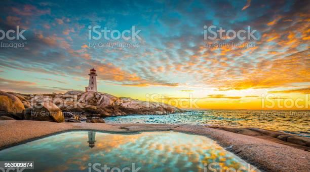 Peggys cove lighthouse sunset ocean view landscape in halifax nova picture id953009874?b=1&k=6&m=953009874&s=612x612&h=fmtctmuwxn5 kktsynn da0p r9qqb ksa5o tlhhce=