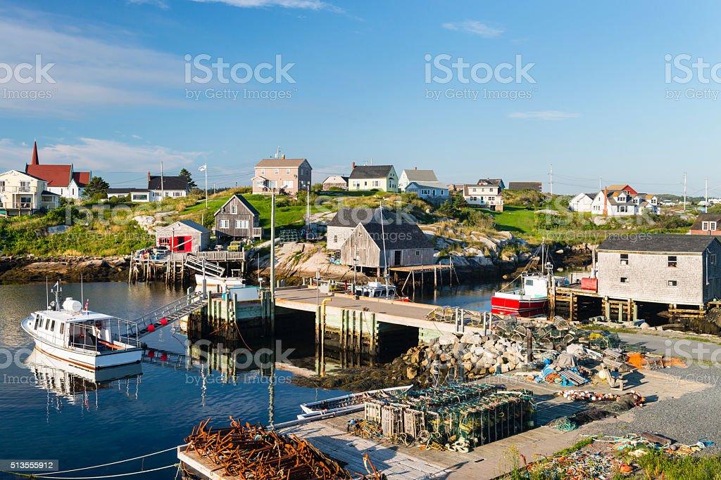 Peggy's Cove village, Harbour scene, fishing industry, Nova Scotia stock photo