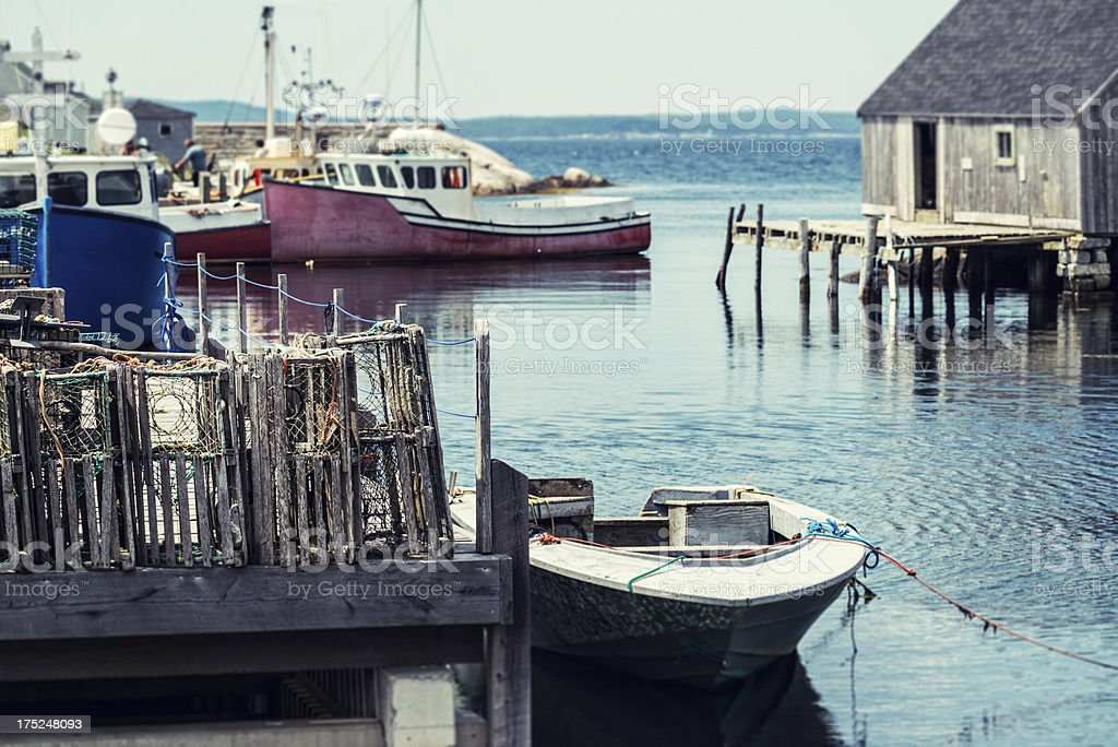 Peggy's Cove Wharf royalty-free stock photo