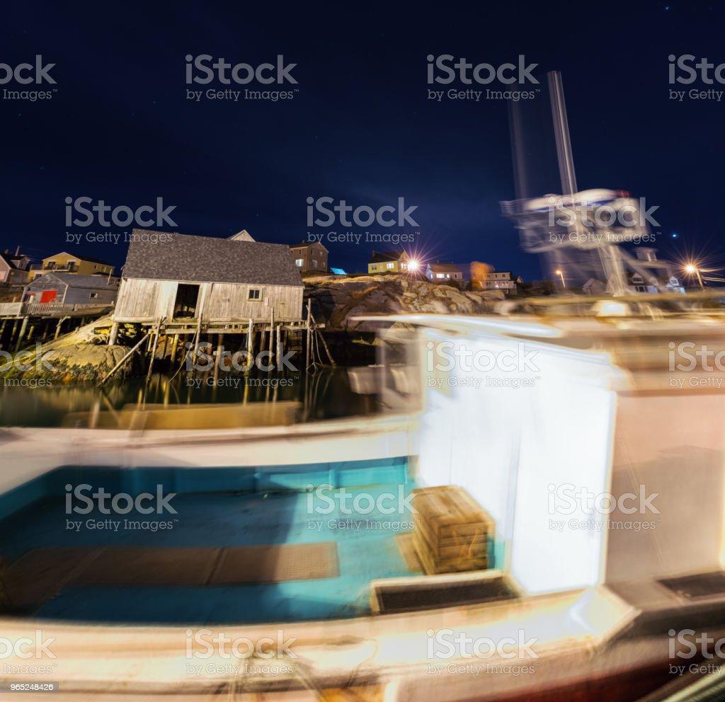 Peggy's Cove Wharf zbiór zdjęć royalty-free