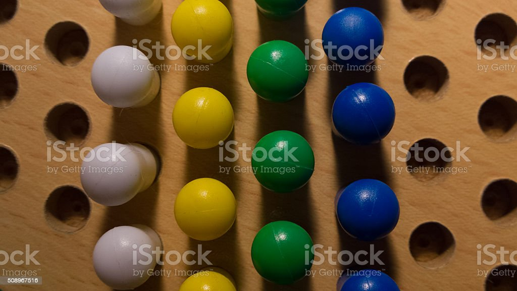 Pegs in a Board From Above stock photo