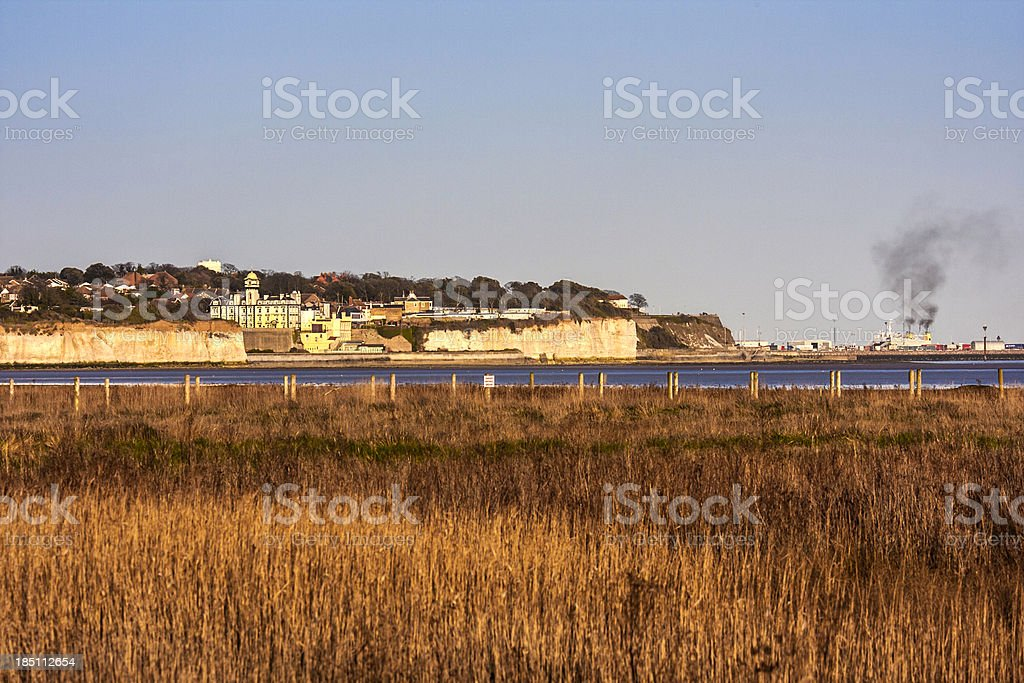 Pegwell Village stock photo