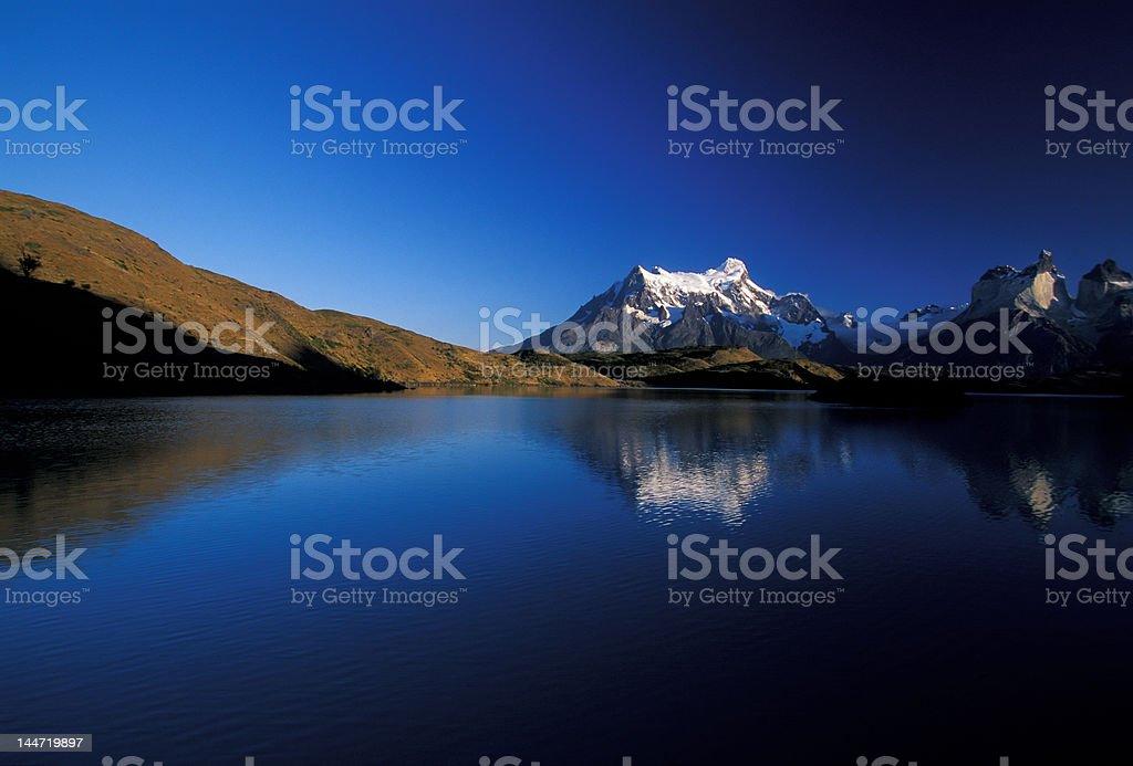 Pehoe lake stock photo