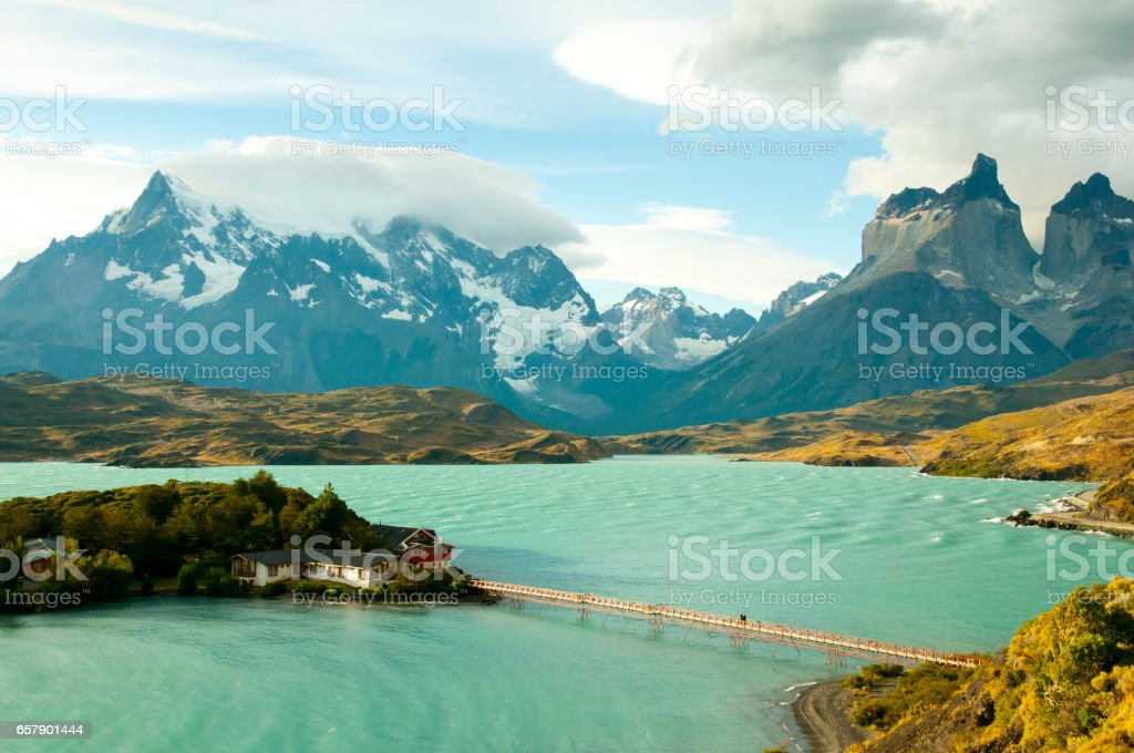 Pehoe Lake Torres Del Paine National Park Chile Stock Photo - Download  Image Now