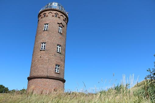 Peilturm Lighthouse at Cape Arkona on Island of Rügen, Germany Baltic Sea