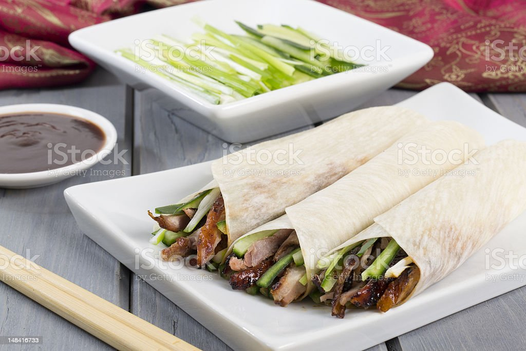 Peking Duck Wrap royalty-free stock photo