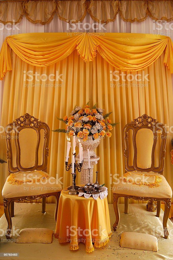 Pelamin royalty-free stock photo