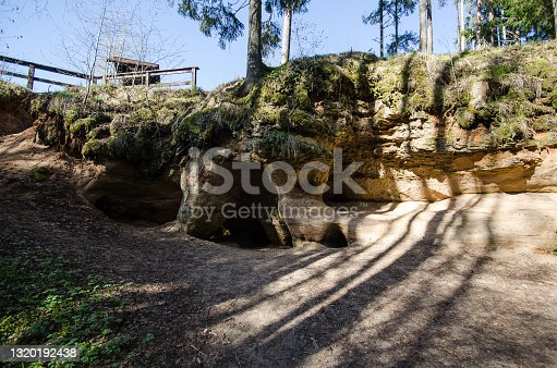 Peldanga labyrinth (Liepniekvalka Caves) is an uncommon cave system for Latvia.