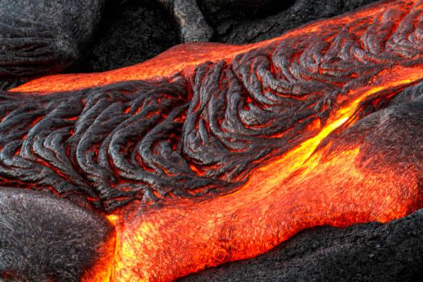 pele's hair lava flow - wulkan czynny zdjęcia i obrazy z banku zdjęć