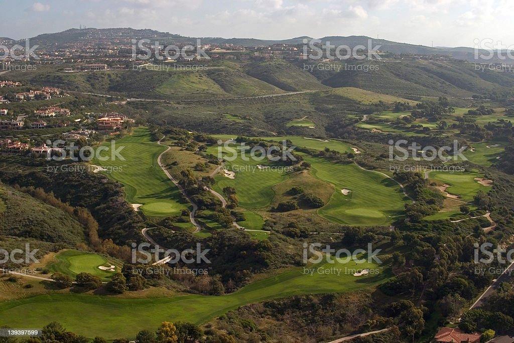 Pelican Hill Golf Course stock photo