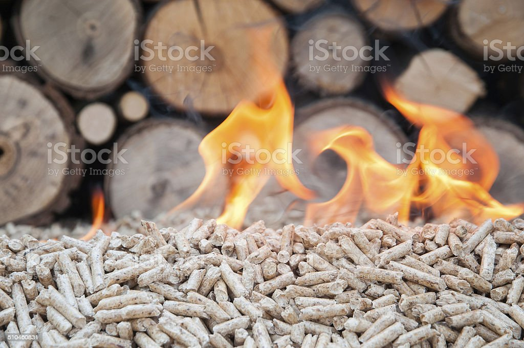 Pellets- Biomas stock photo