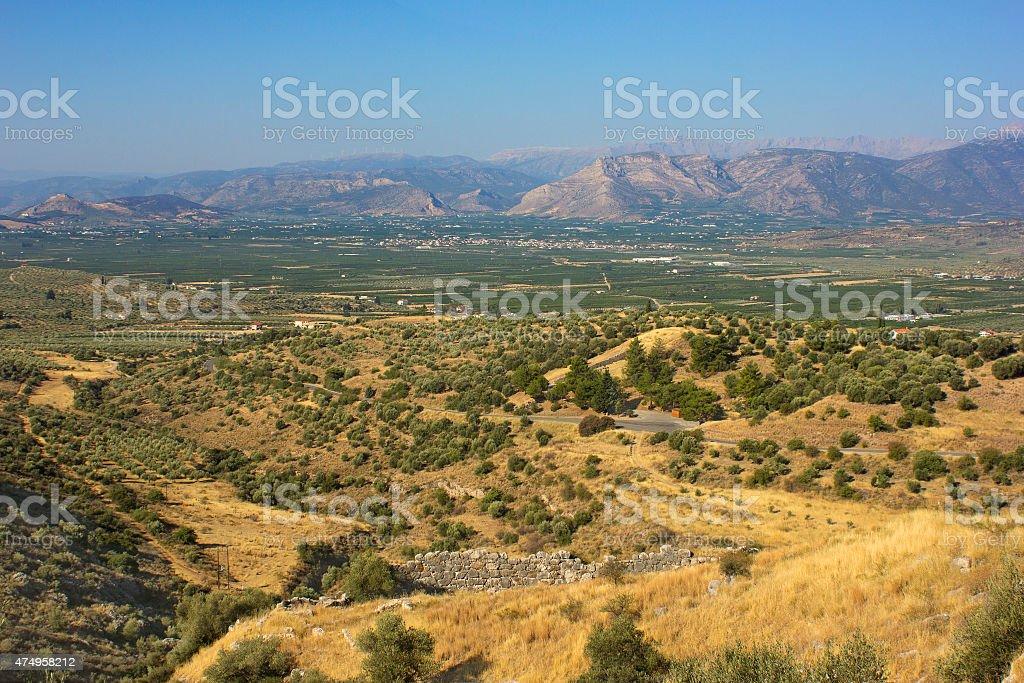Peloponnese landscape stock photo