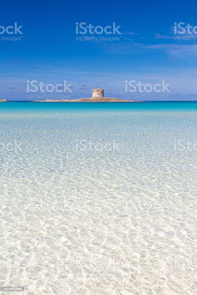 Pelosa beach, Sardinia, Italy. stock photo
