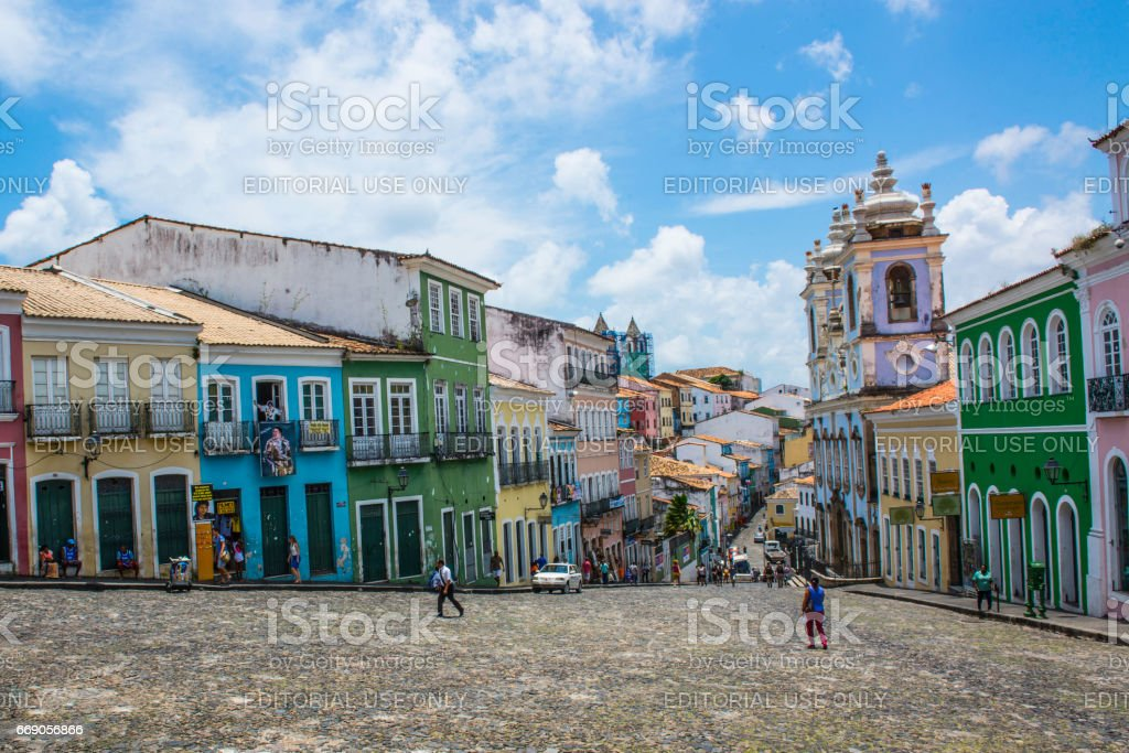 Pelourinho Historic Center stock photo