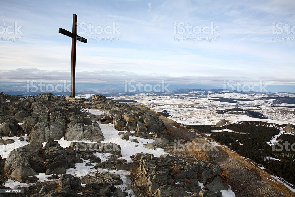 Pelrinage in Auvergne royalty-free stock photo