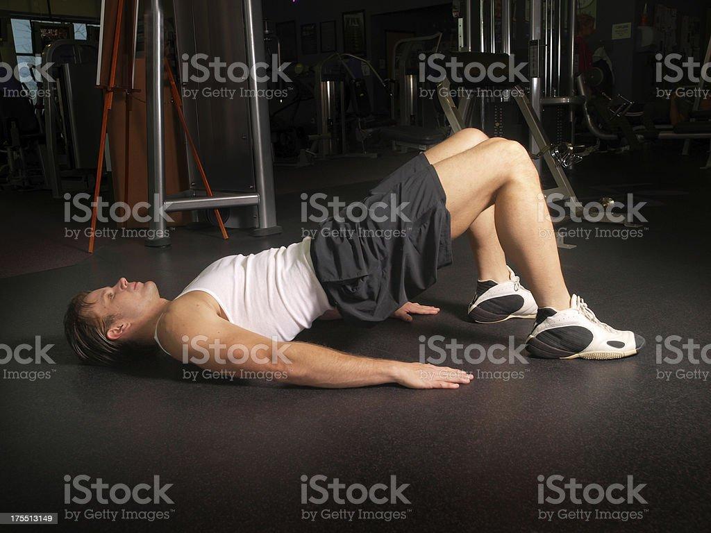 Pelvic Lift Exercise stock photo