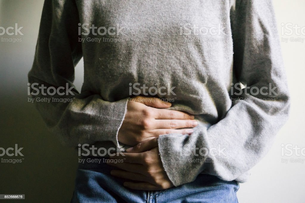 Pelvic pain stock photo